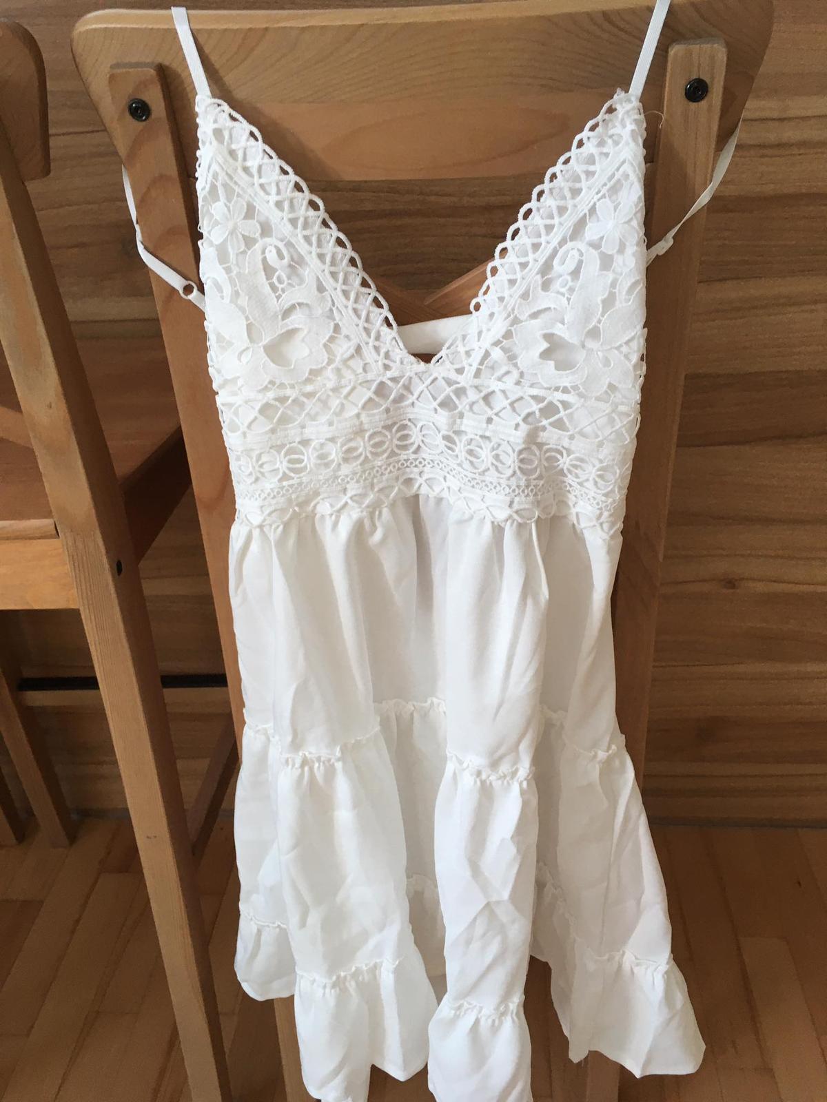 Nové dámské letní/svatební bílé šaty - Obrázek č. 1