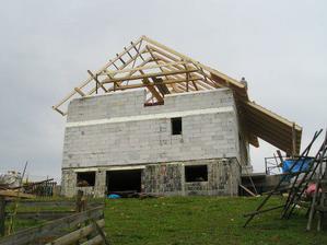 Pohľad na zadnú časť domu