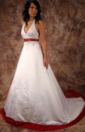 Svatební šaty - růžové i červené až do bordó - Svatební šaty TRINIDAD