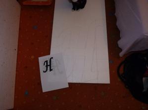 polystyrenová písmena v procesu výroby a kousek našeho Donalda :o)