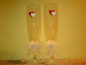 udělala sem si skleničky na náš první novomanželský přípitek
