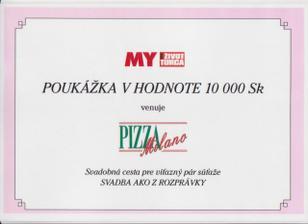 """a korunky na svadobnú cestu od Pizza Milano- nechcem robiť """"reklamu"""" ale pizzu majú fakt dobrú..."""