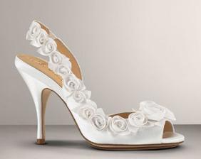 pekný svadobný obuv