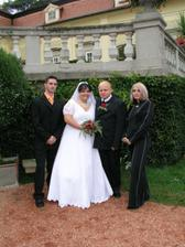 se svědky - moje sestra a manželův kamarád
