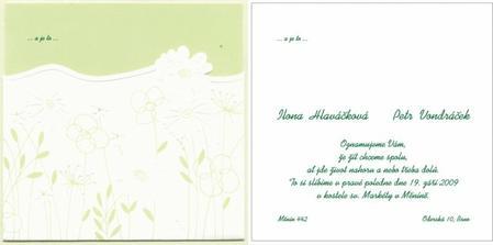 Kartička s textem je zasunovací - v zelené barvě, na levo zasunutá, v pravo zvlášť :-)