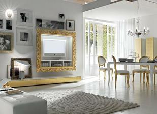takto by ten nábytok z vizky mal vyzerať v skutočnosti - lesklý biely a dvere zlaté...