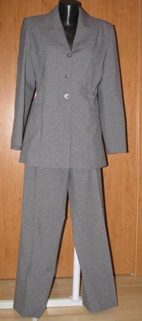 Sivý nohavicový kostým - Obrázok č. 1
