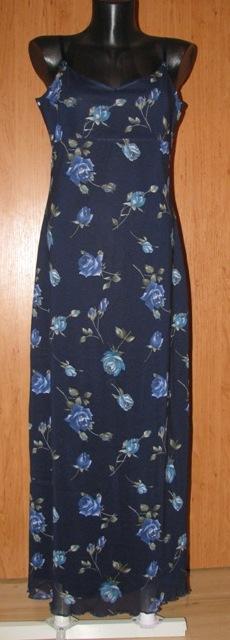 Tmavomodré letné šaty - Obrázok č. 1