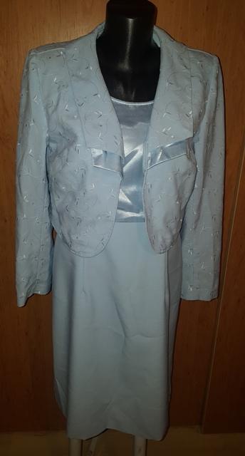 Bledučko modré šaty s bolerkom - Obrázok č. 1