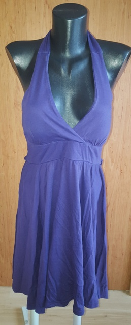 Fialové šaty v. 40/42 - Obrázok č. 1