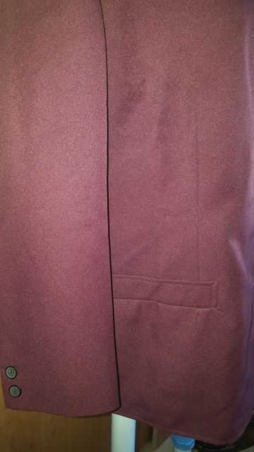 Bordový kostým 3 kombinácia - Obrázok č. 4