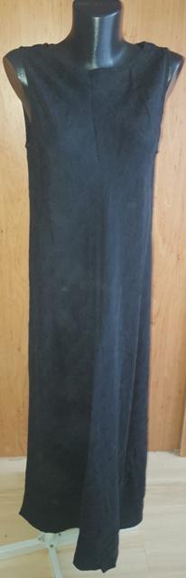 Čierne dlhé šaty v. 38 - 44 - Obrázok č. 1