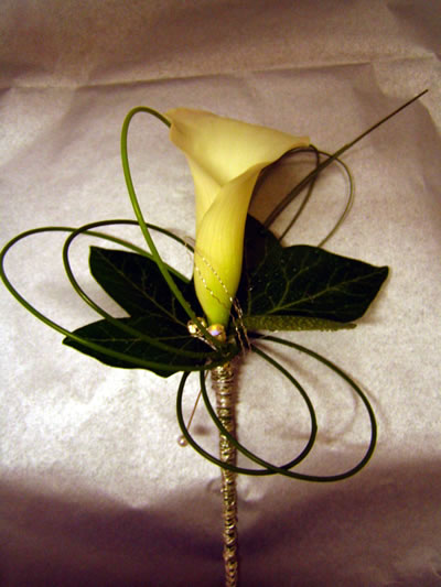 Flowers Prep - Button hole idea