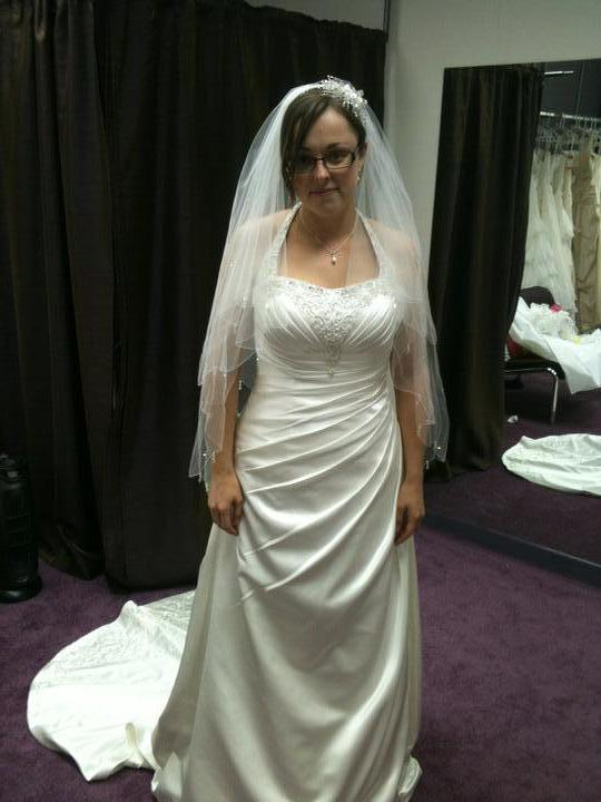 Dress - my dress veil and side tiara