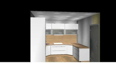 po lavej strane bude nad pracovnou plochou okno spojene s dverami, takze to bude tvorit jeden velky otvor do obyvacky..
