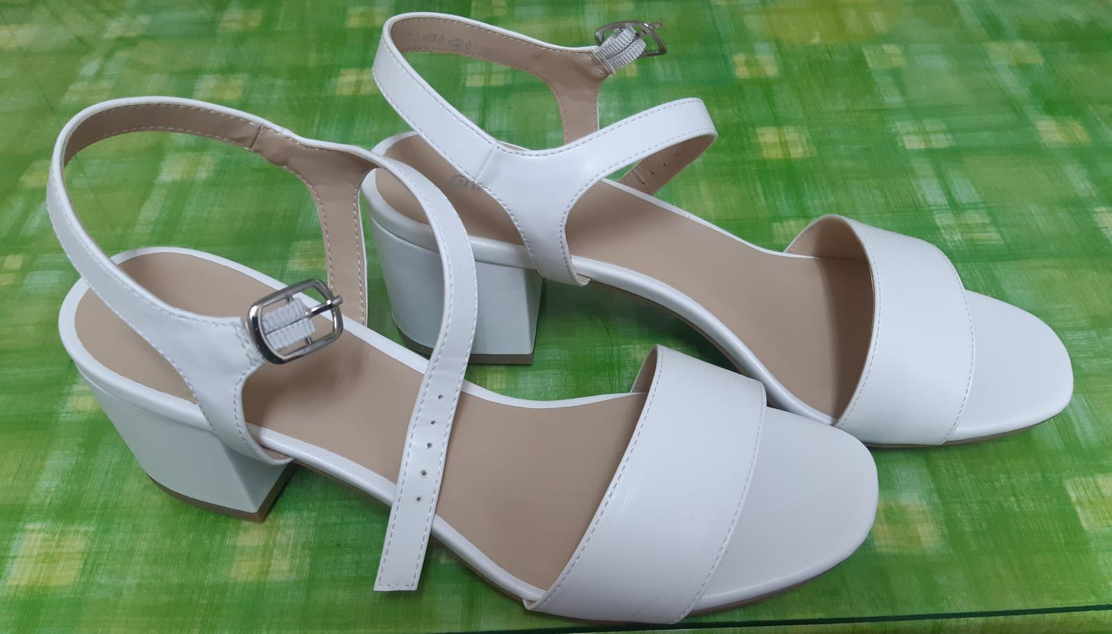 Biele sandále - Obrázok č. 1