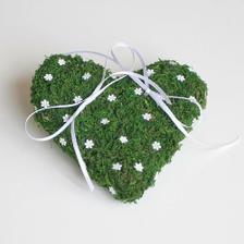 Mechové srdce pod prstýnky :-)