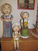 Keramické panenky.,