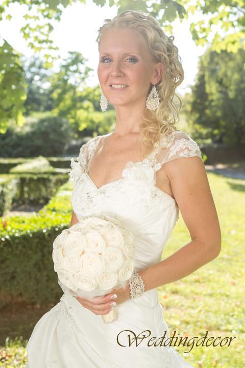Naše spokojné zákazníčky a naše výrobky :) - Nevesta Ivka - kytička a pierko pre ženícha