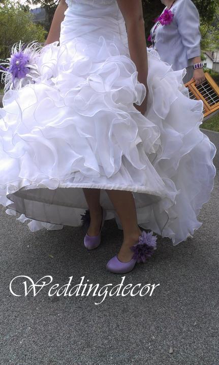 Naše spokojné zákazníčky a naše výrobky :) - Nevesta Stanka - extravagantná pierková kytica a pierko pre ženícha