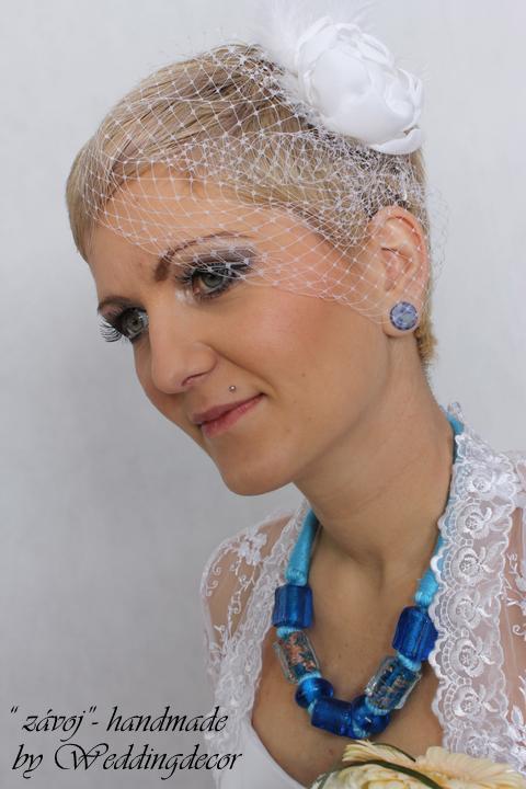 Naše spokojné zákazníčky a naše výrobky :) - Nevesta Veronika - birdcage závoj