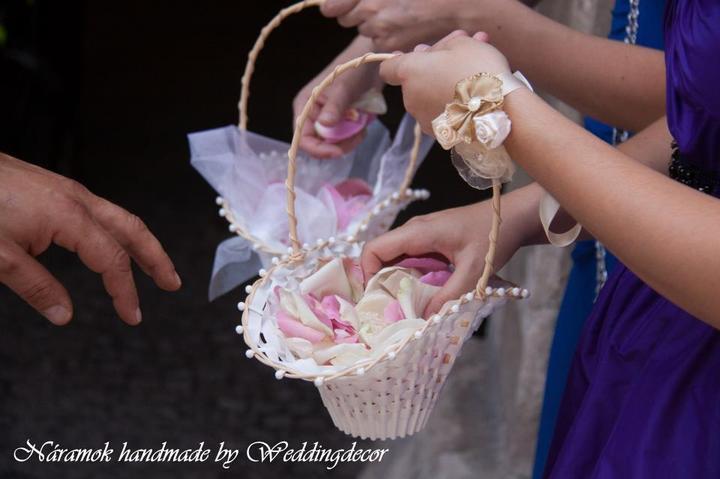 Naše spokojné zákazníčky a naše výrobky :) - Nevesta Mirka - kytica pre nevestu, pierko pre ženícha, náramok pre družičky