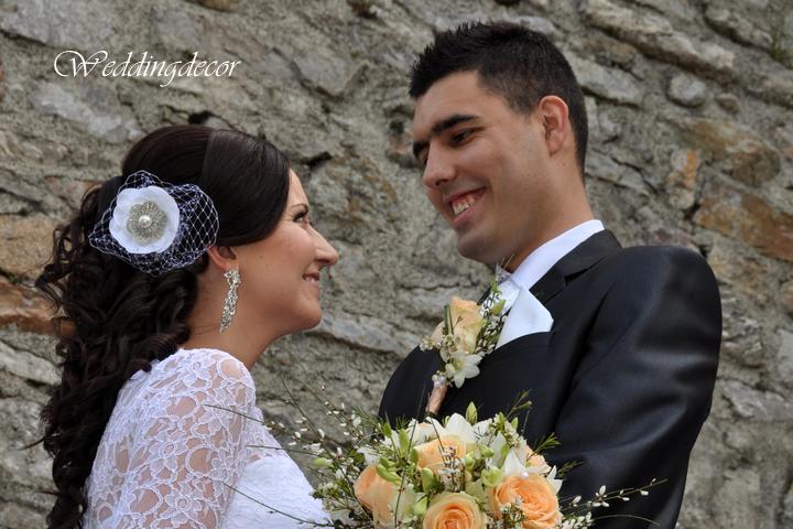 Naše spokojné zákazníčky a naše výrobky :) - Nevesta Andrea - ozdoba (kvetinka) do vlasov