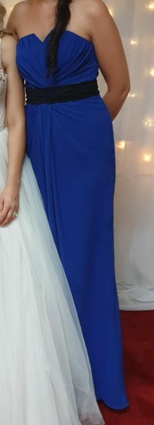 Šaty 36/38 indigo modré večerné - Obrázok č. 1