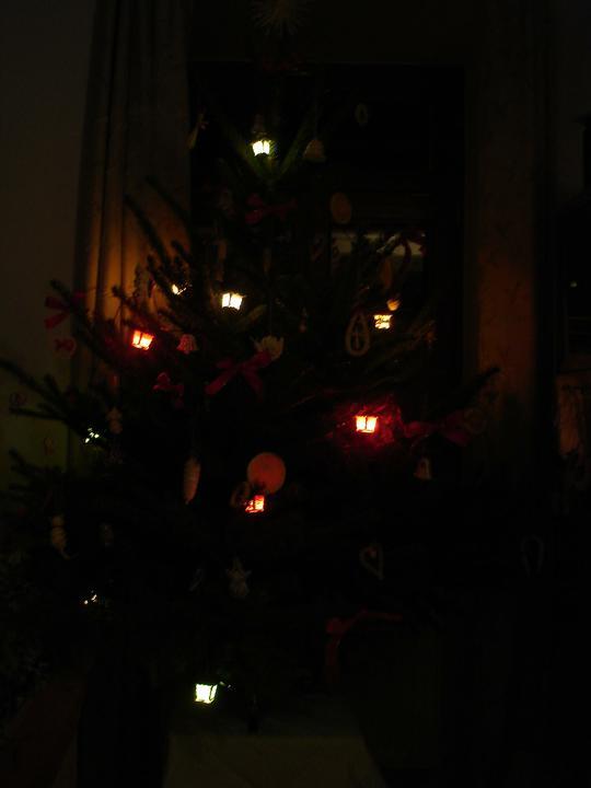Vánoce již v novém - stromeček ve tmě