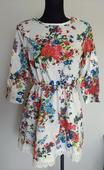 Kvetované šaty s krajkou, XL