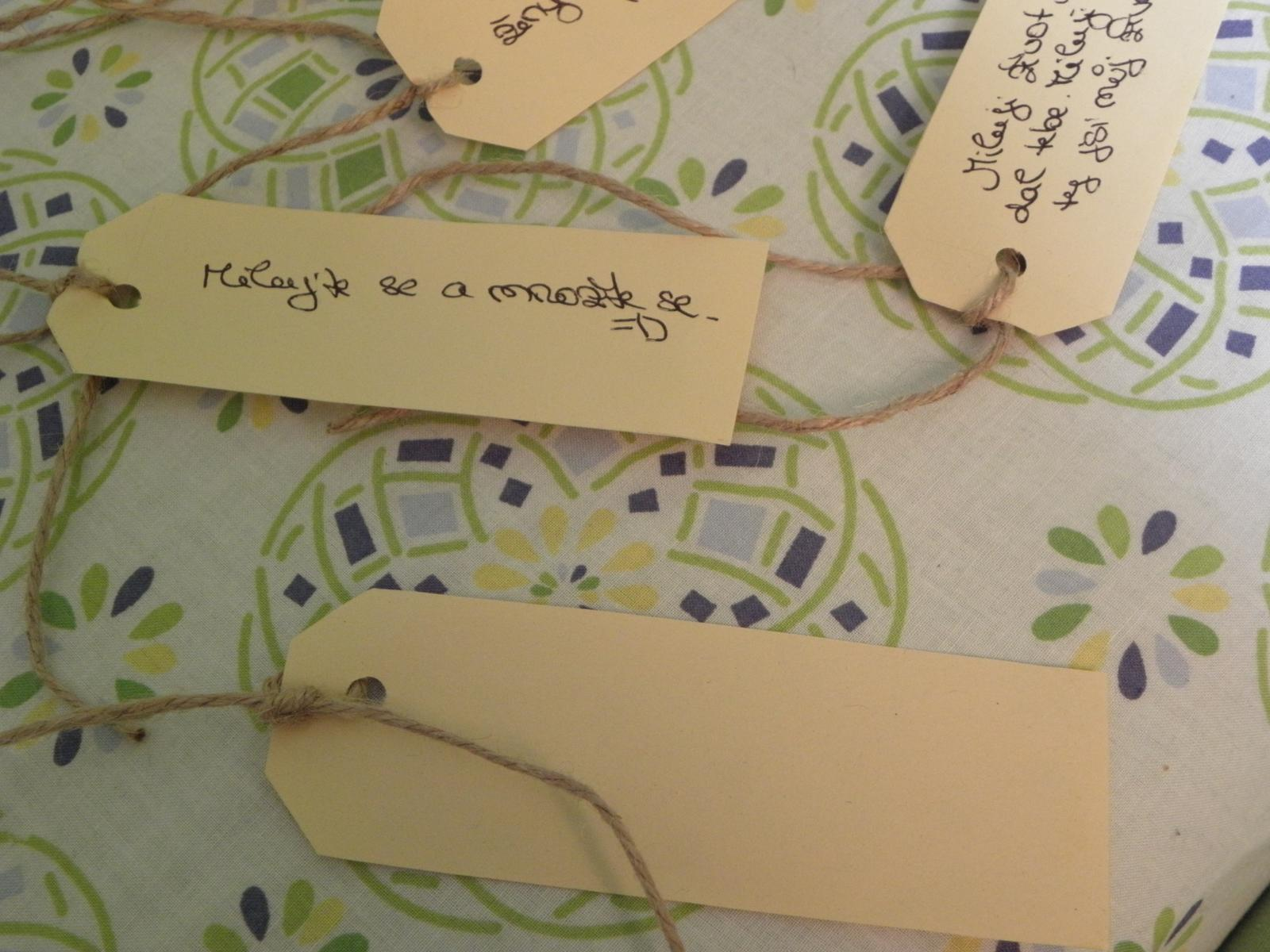 Selská svatba + Má tvorba - A tady již jeden papír na vzkazy...
