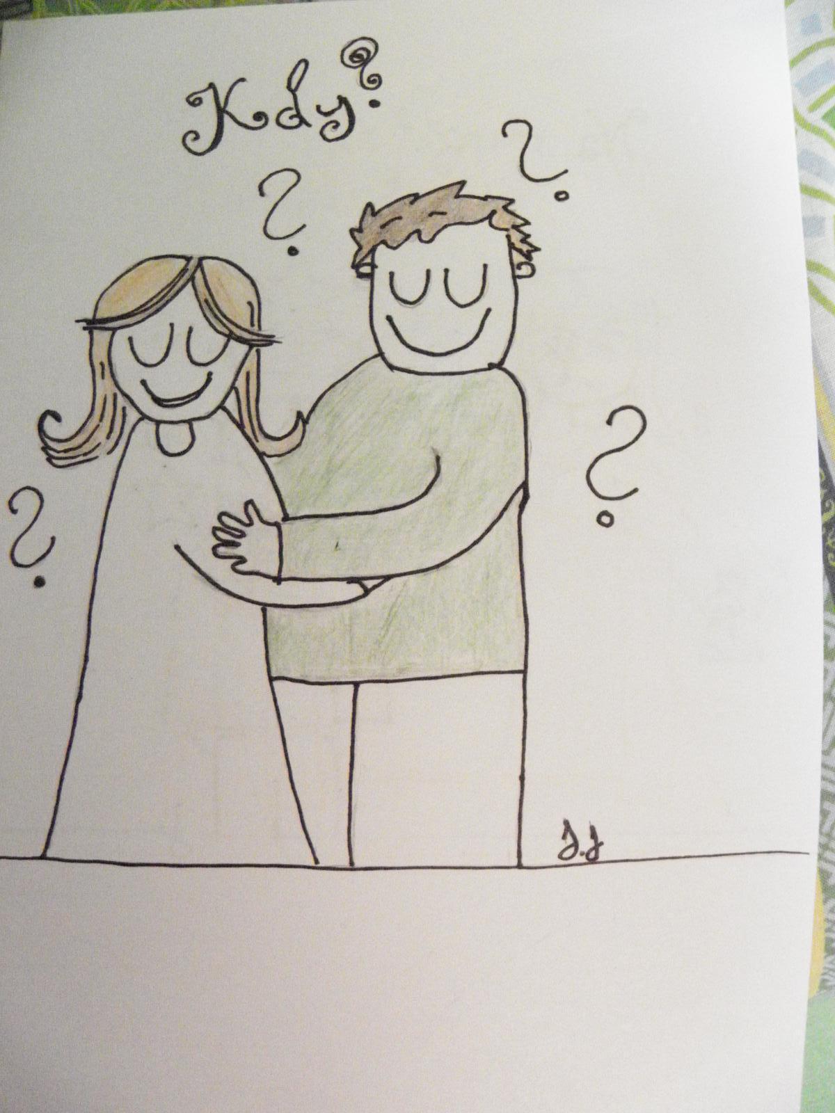 Selská svatba + Má tvorba - 1. viněta do svatebních novin hotova.. Akorát jsem ze svého nastávajícího udělala trochu tlouštíka...