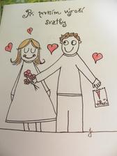 II. viněta do svatebních novin, mou rukou malovaná... :)