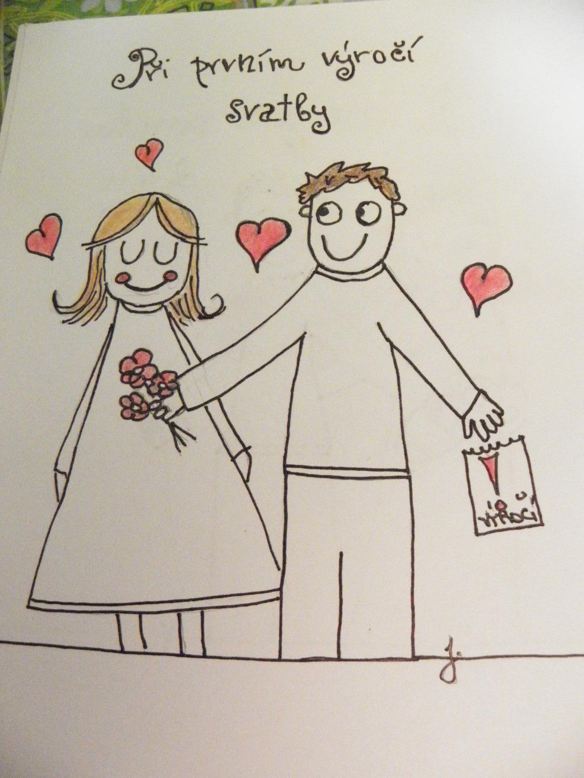 Selská svatba + Má tvorba - II. viněta do svatebních novin, mou rukou malovaná... :)