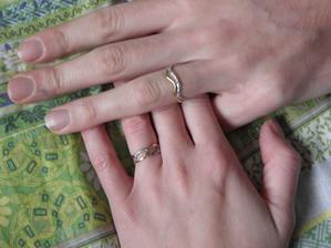 A konečně máme doma prstýnky!!! Jupí! Jsou opravdu překrásný..