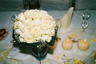 svadobná kytička - detail