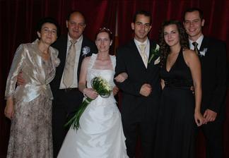 Palinova rodina, rodicia a sestra Peta s priatelom Petom