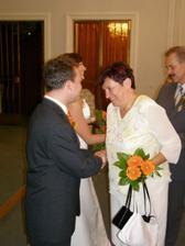Gratulace od rodičů nevěsty.