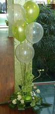 Balóny nesmú chýbať...hlavne na parkete, aby sa detičky mali s čím hrať :-)