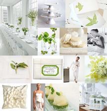 Bielo-zelená kombinácia...takto nejak si to predstavujem - jemne a zároveň tomu tá zelená dodá sviežosť :-)