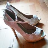 Kvietkované next svadobné topánky na podpätku, 39