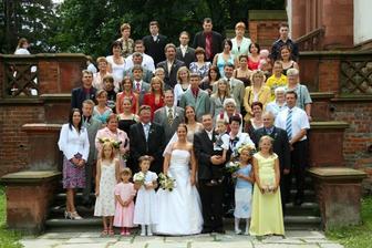 všichni co byly na svatbě