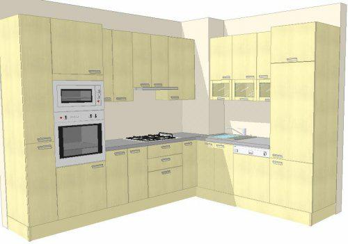 Kuchyně v paneláku - Takto vypadá naše linka v bytě - po těch letech se mi už nelíbí - do baráčku už jedině něco, co bude dýchat