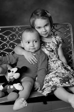 Naše krásne detičky: Paulínka 3,5roka a Adamko 1 rok
