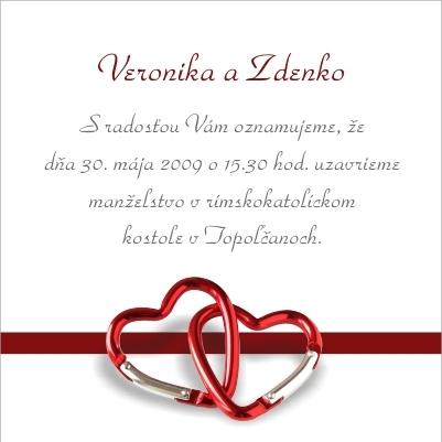 Zdenko a Veronika 30.05.09 - Nase oznamko, dole je este adresa