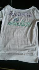 Tričko na rozlučku :) - zadní strana