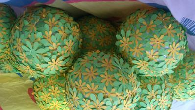 Dekorace na pavlač do váziček, aneb práce klientů, jsou šikovní :-)