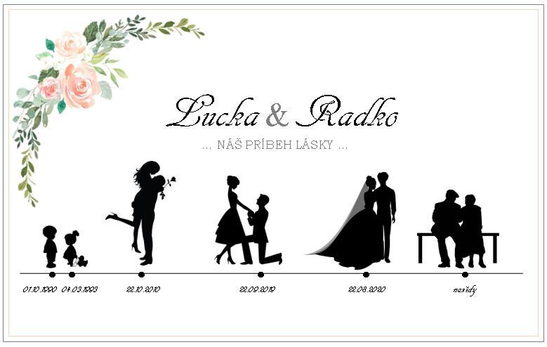 Wedding Time - prvá verzia časovej osi, neviem či mám dať kvety aj na druhú stranu :/