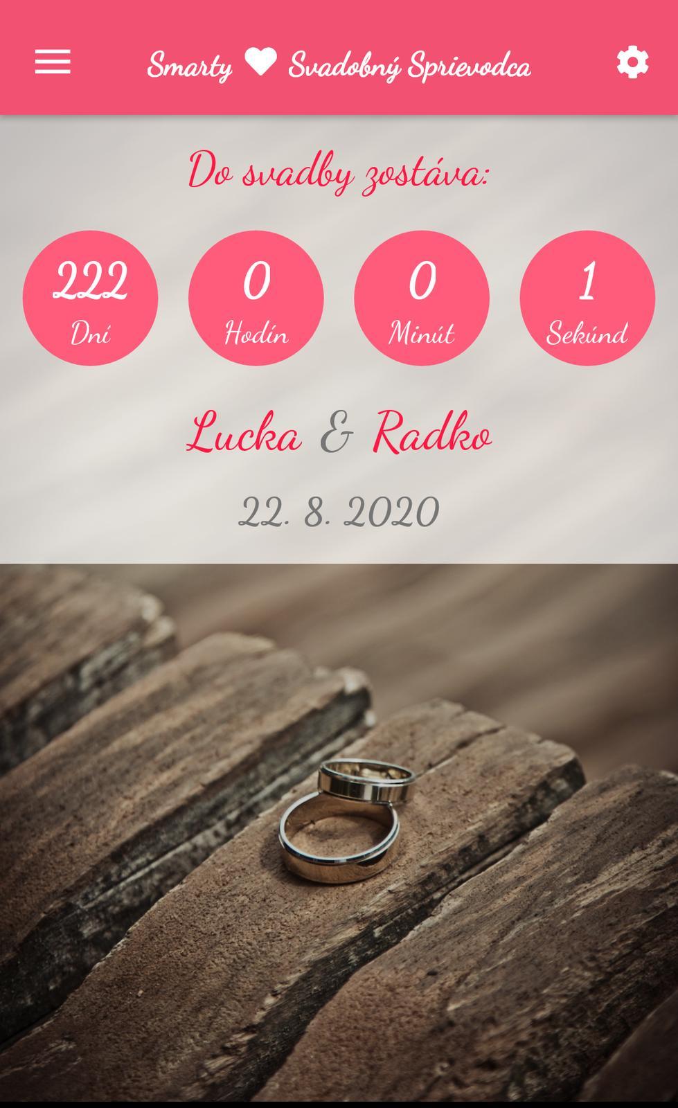 Wedding Time - už len 222 dní :)