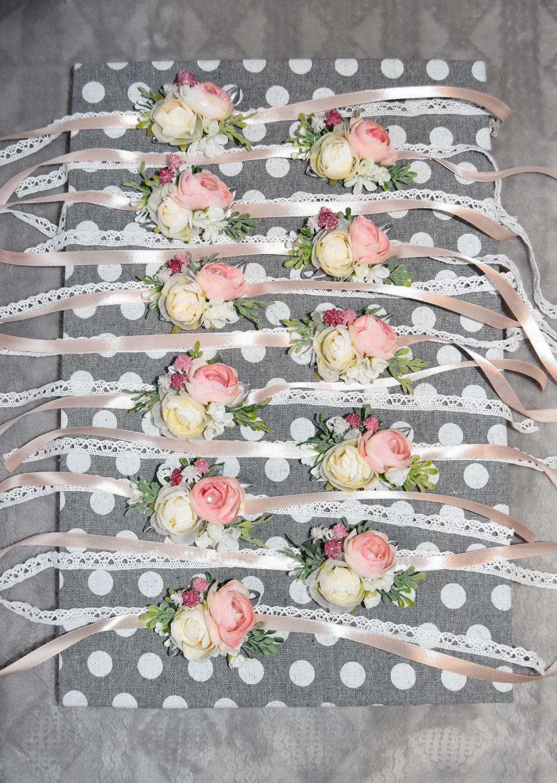Wedding Time - náramky pre hlavné družičky hotové :)